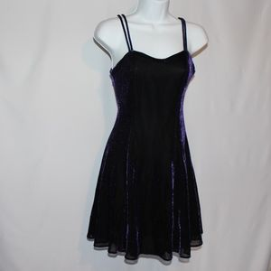 Vintage 90's Purple Metallic Skater Dress size S